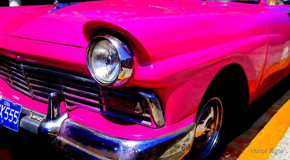 Hot Pink in Cuba :) by Honor Kyne