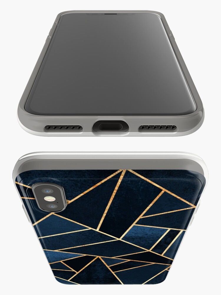 Alternate view of Navy Stone iPhone Case & Cover