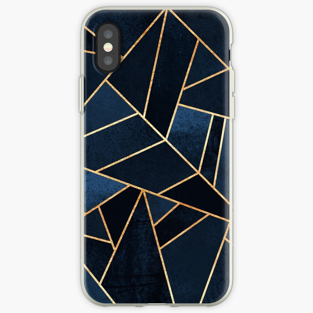 Navy Stone iPhone Case & Cover