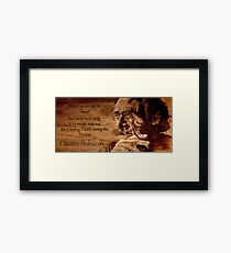Charles BUKOWSKI - WOOD - quote Framed Print