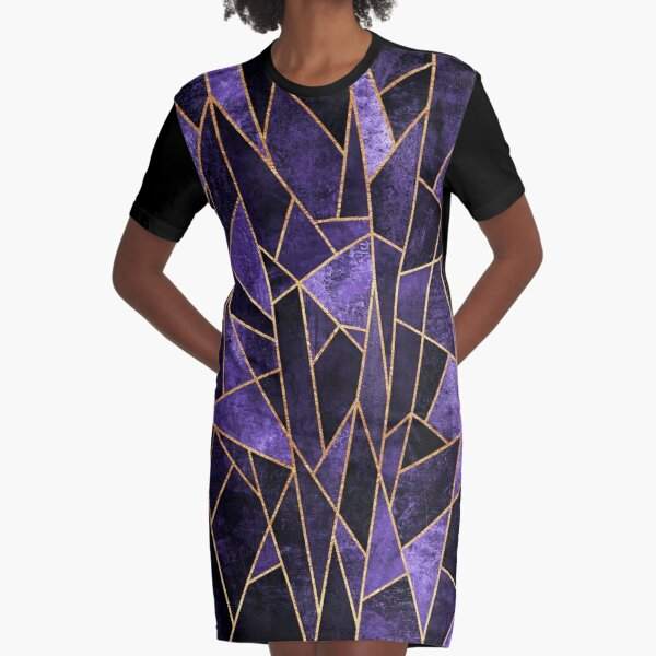 Shattered Amethyst Graphic T-Shirt Dress