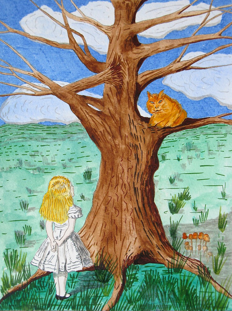 Alice and the Cheshire Cat by Mike Paget