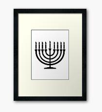 Hanukkah Menorah Framed Print
