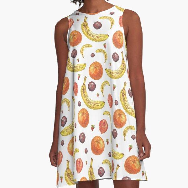 Fruit Salad Pattern A-Line Dress