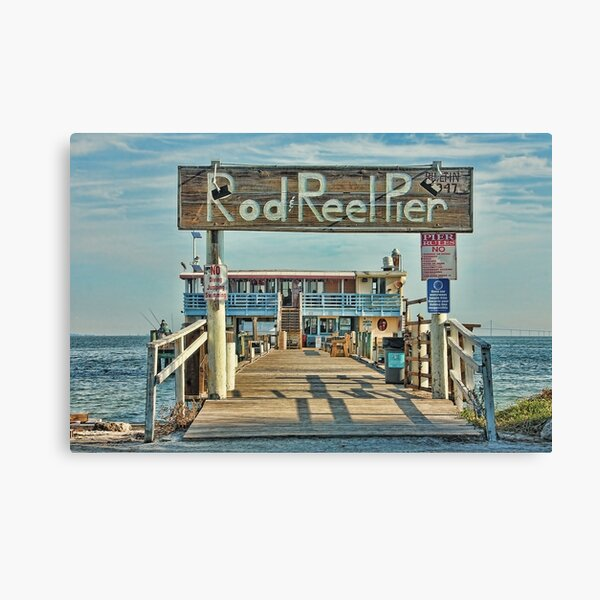 A Pier Called The Rod And Reel Canvas Print