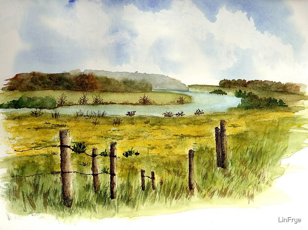 Yellow Landscape by LinFrye