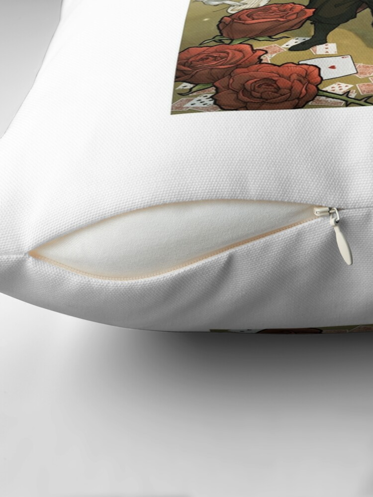 Alternate view of Card Trick, Step-by-Step Throw Pillow