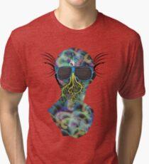Colorful Alien Tri-blend T-Shirt