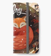 Bleiben Sie gemütlich iPhone Flip-Case/Hülle/Klebefolie