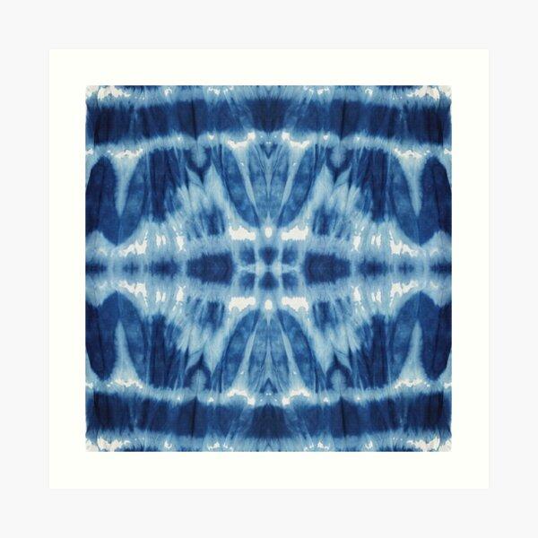 Tie-Dye Blues Twos Art Print