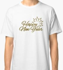 Happy New Year Fireworks Classic T-Shirt