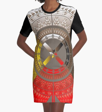 The Four Directions Graphic T-Shirt Dress