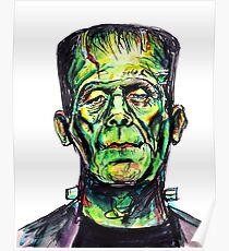 Frankenstein - White Poster