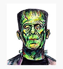 Frankenstein - White Photographic Print