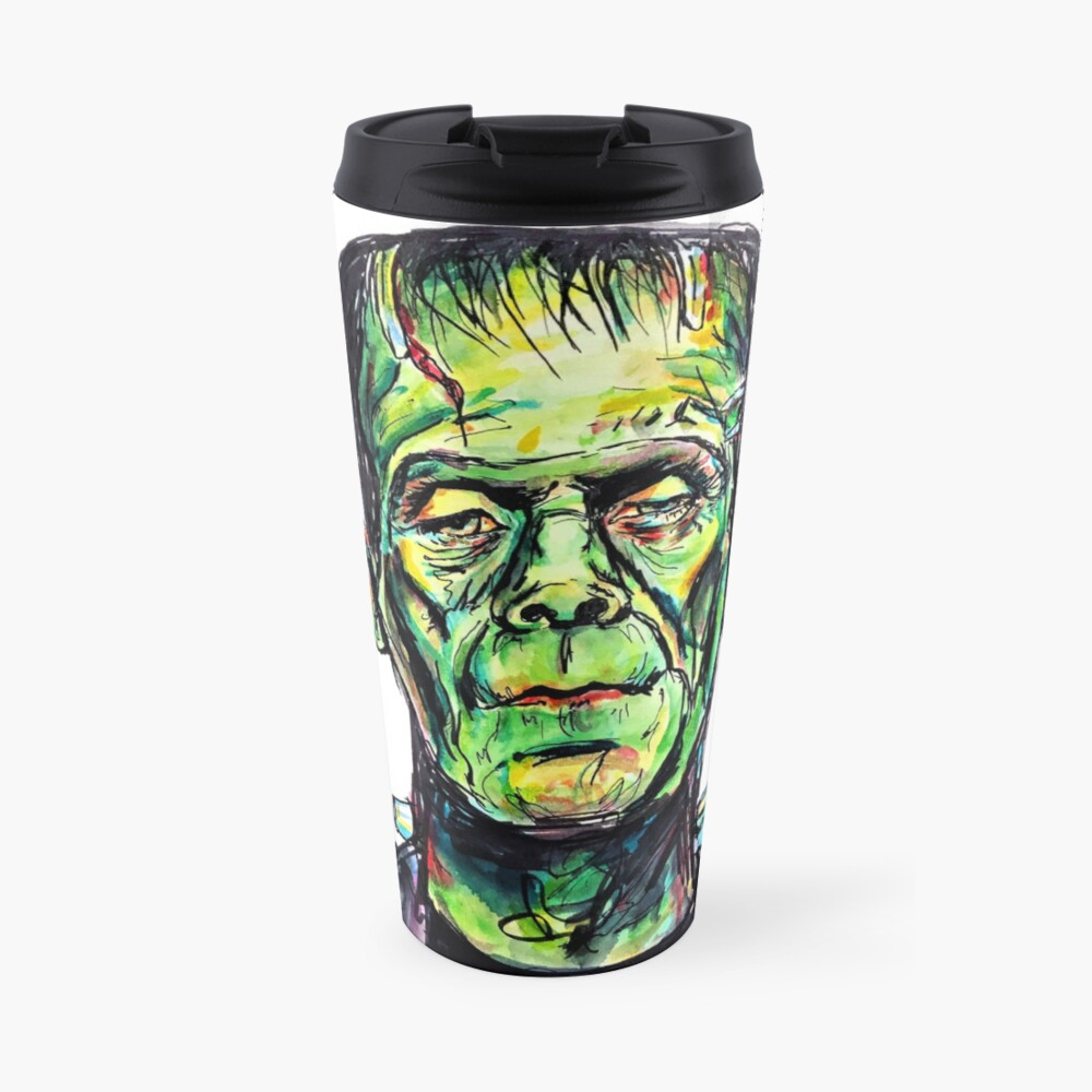 Frankenstein - White Travel Mug