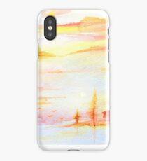 Sunset Watercolor Design  iPhone Case/Skin