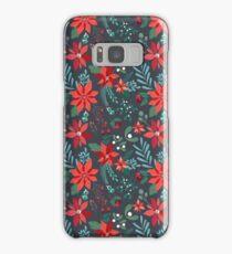 Poinsettia Pattern Samsung Galaxy Case/Skin