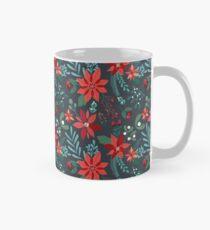 Poinsettia Pattern Mug