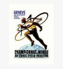 CYCLOCROSS: Vintage Bicycle Racing Advertising Print Art Print