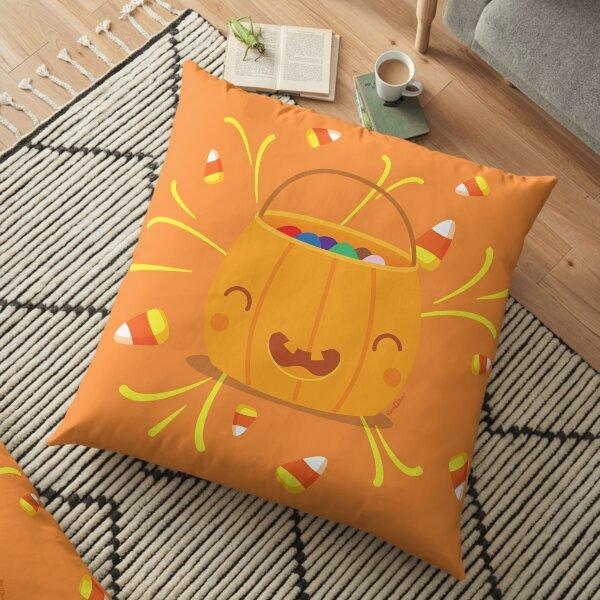 Jack-o-lantern Joy Floor Pillow
