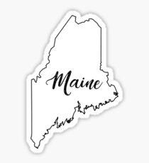 State Outline - Maine Fancy Sticker