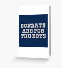 Sundays are for the boys 2 Greeting Card