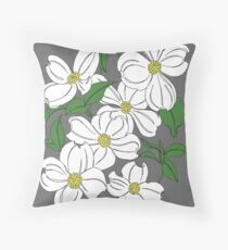 Dogwood Flowering Trees Throw Pillow
