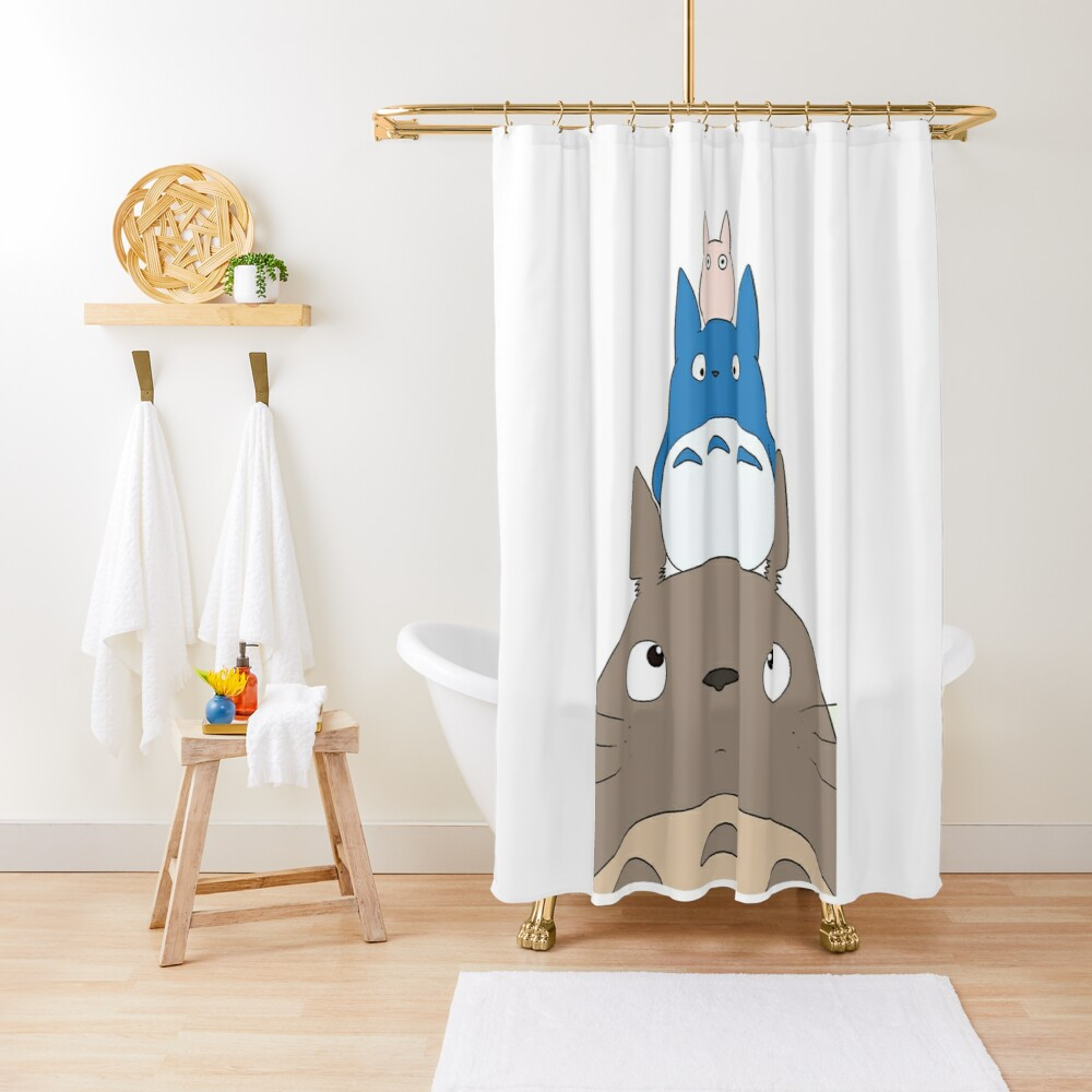 Totoro Family Shower Curtain