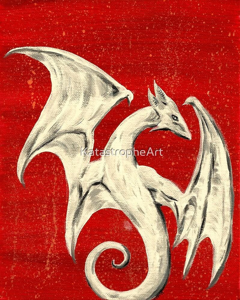 White Dragon by KatastropheArt