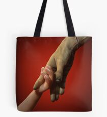Modern Prometheus in Red Tote Bag