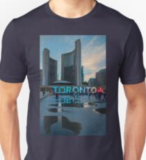 Reflections in Nathan Phillips Square, Toronto, ON, Canada T-Shirt