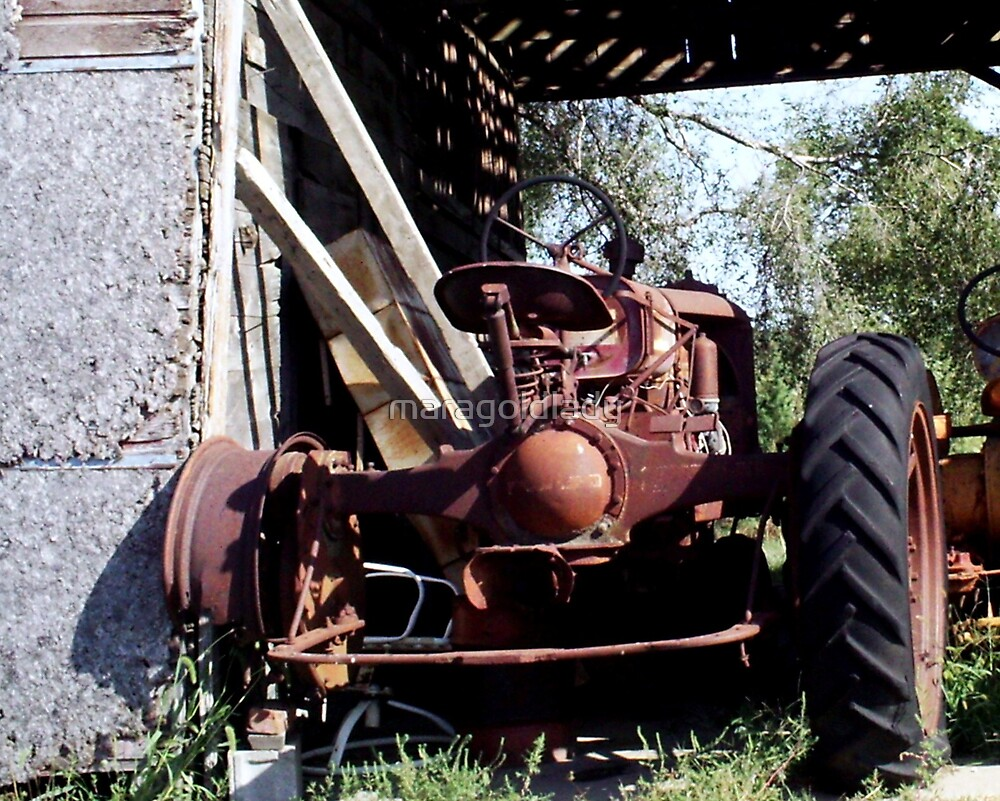 Old Tractor Close Up by maragoldlady