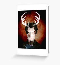 Deer Face Greeting Card