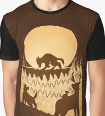 Full Moon in the Forest Graphic T-Shirt