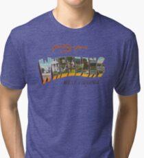 Greetings from Wheeling, West Virginia Tri-blend T-Shirt