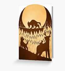 Full Moon in the Forest Greeting Card