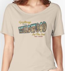 Greetings from Wildwood by the Sea, New Jersey Women's Relaxed Fit T-Shirt