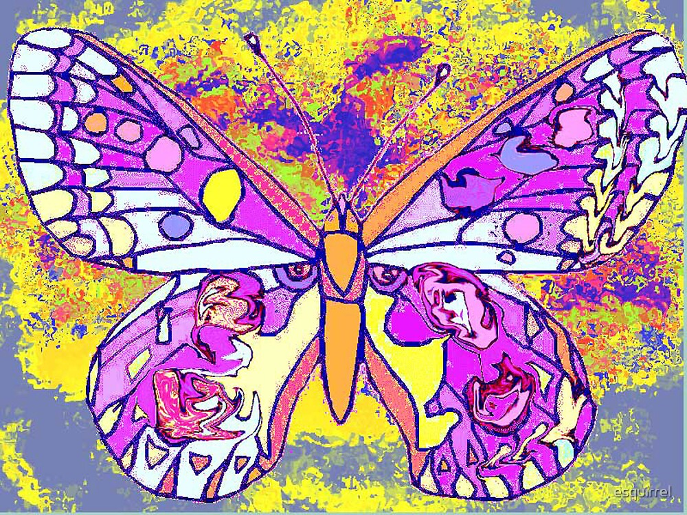 Psychedelic butterfly by esquirrel