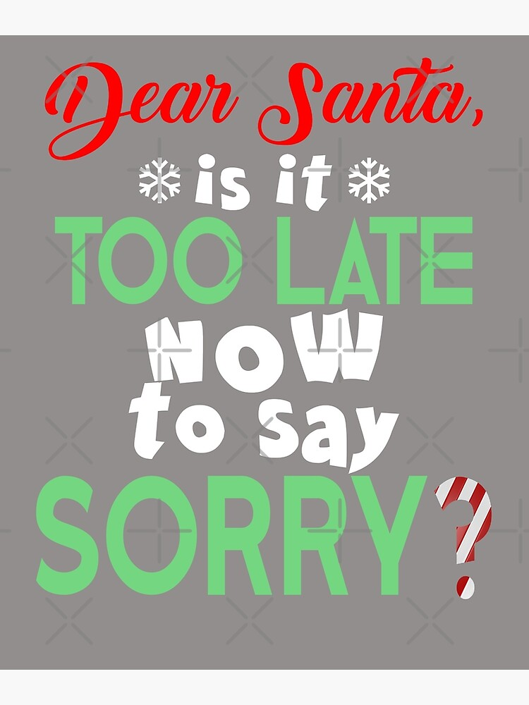 Christmas Quotes Funny Naughty   Metal Print