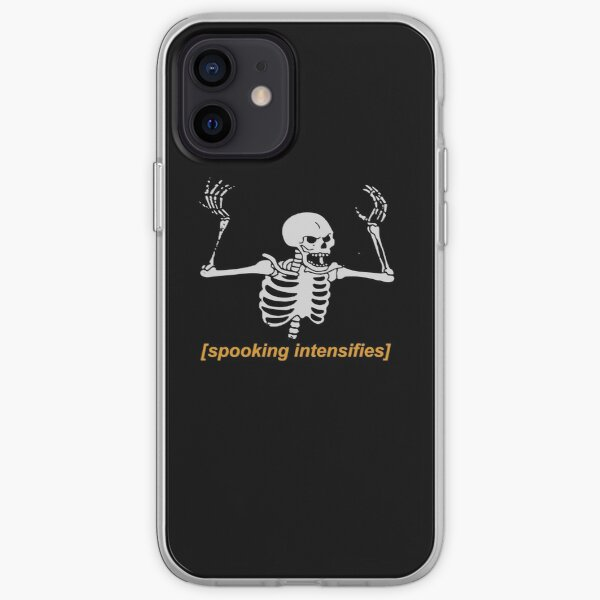 Spooking Intensifies Spooky Scary Skeleton Meme iPhone Soft Case