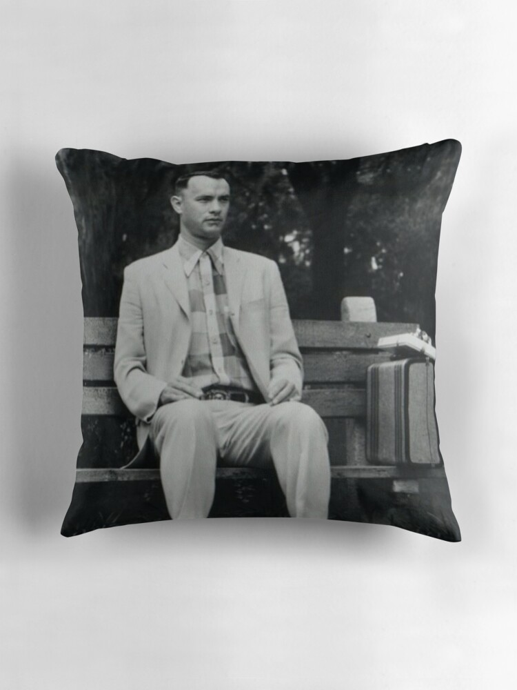 """Forrest Gump"""" Throw Pillows by Tergs"""