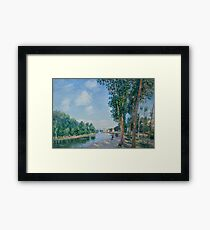 Saint-Mammes. June Sunshine by Alfred Sisley Framed Print