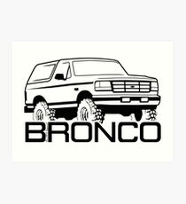 1992-1996 Ford Bronco Art Print