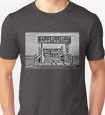A Pier Called The Rod And Reel BW T-Shirt