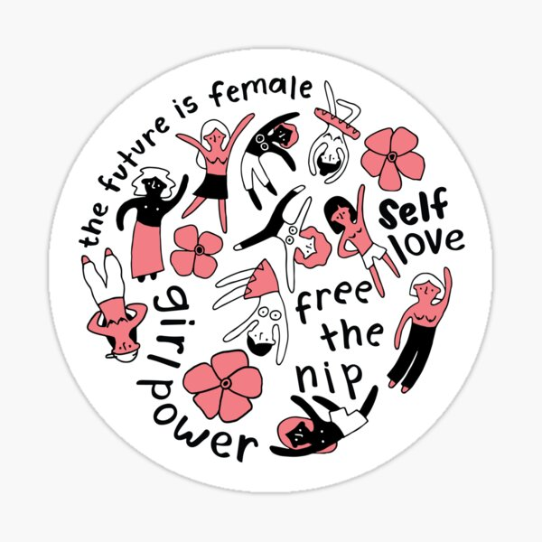 Feminist Circle (pink) Sticker