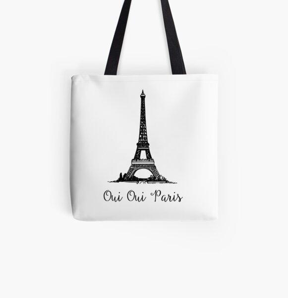 Oui Oui Paris - Paris Souvenir All Over Print Tote Bag