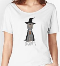 potter dogs dogwarts Women's Relaxed Fit T-Shirt