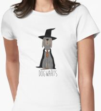 potter dogs dogwarts Women's Fitted T-Shirt