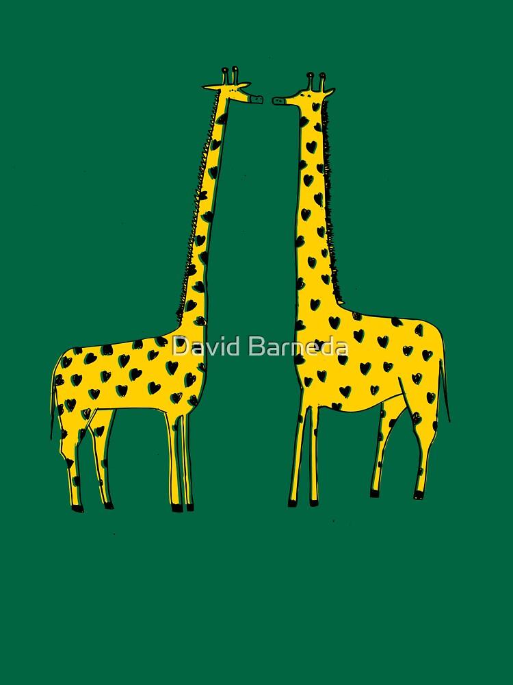 Giraffe Love by barneda