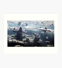 GIANTS IN THE CLOUDS Art Print
